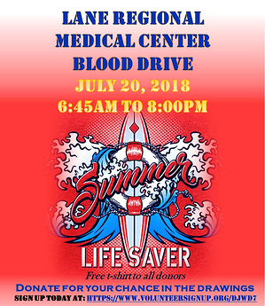 BLOOD DRIVE JULY 2018