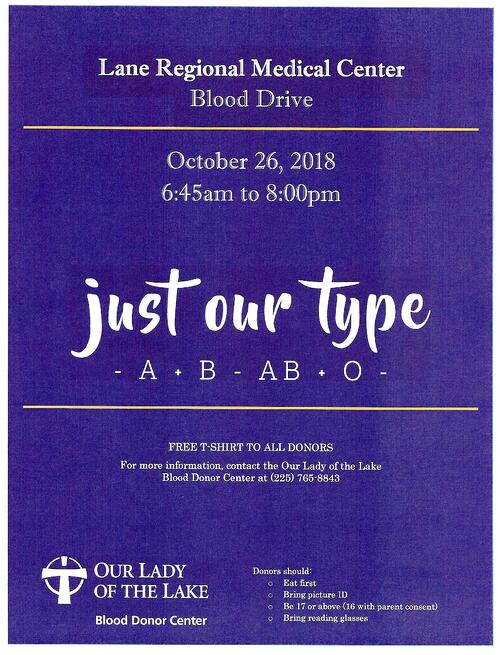 Blood drive october 2018-1