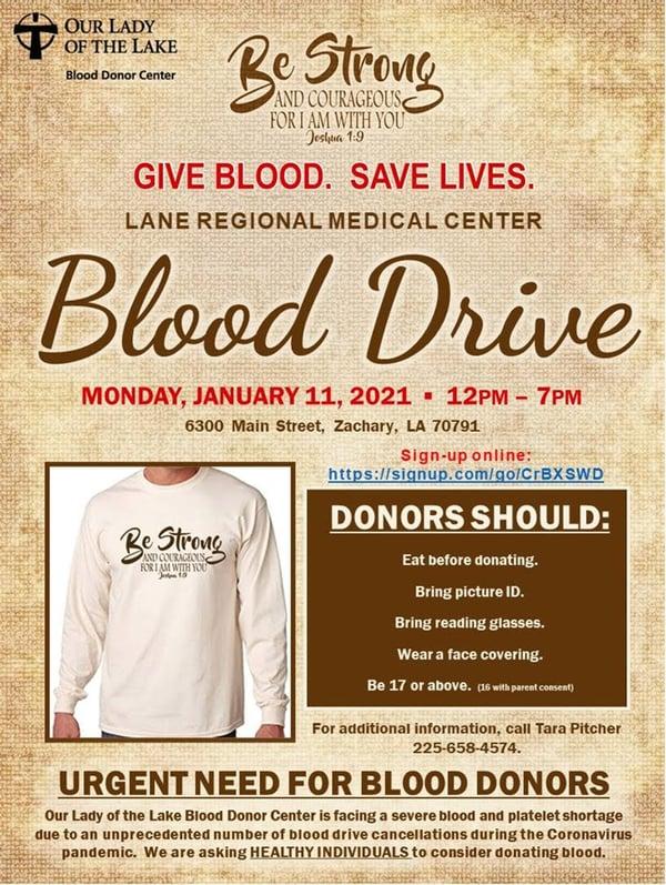 blood drive jan 2020