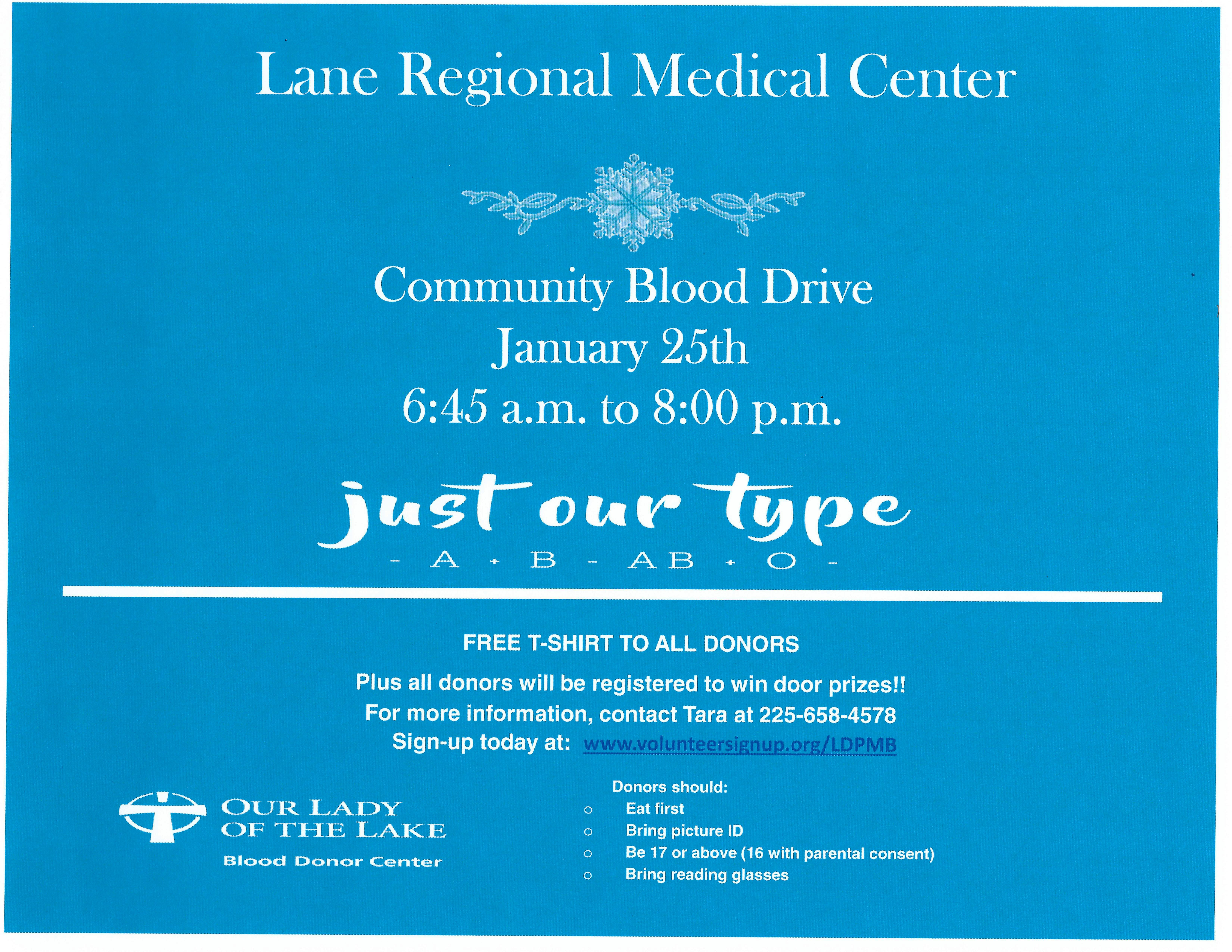 blood drive january 2019