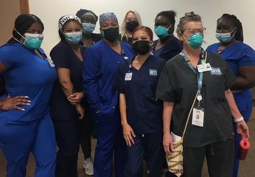 group of new nurses at Regeneron infusion center