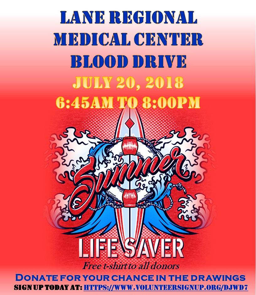 Blood Drive at Lane Regional Medical Center