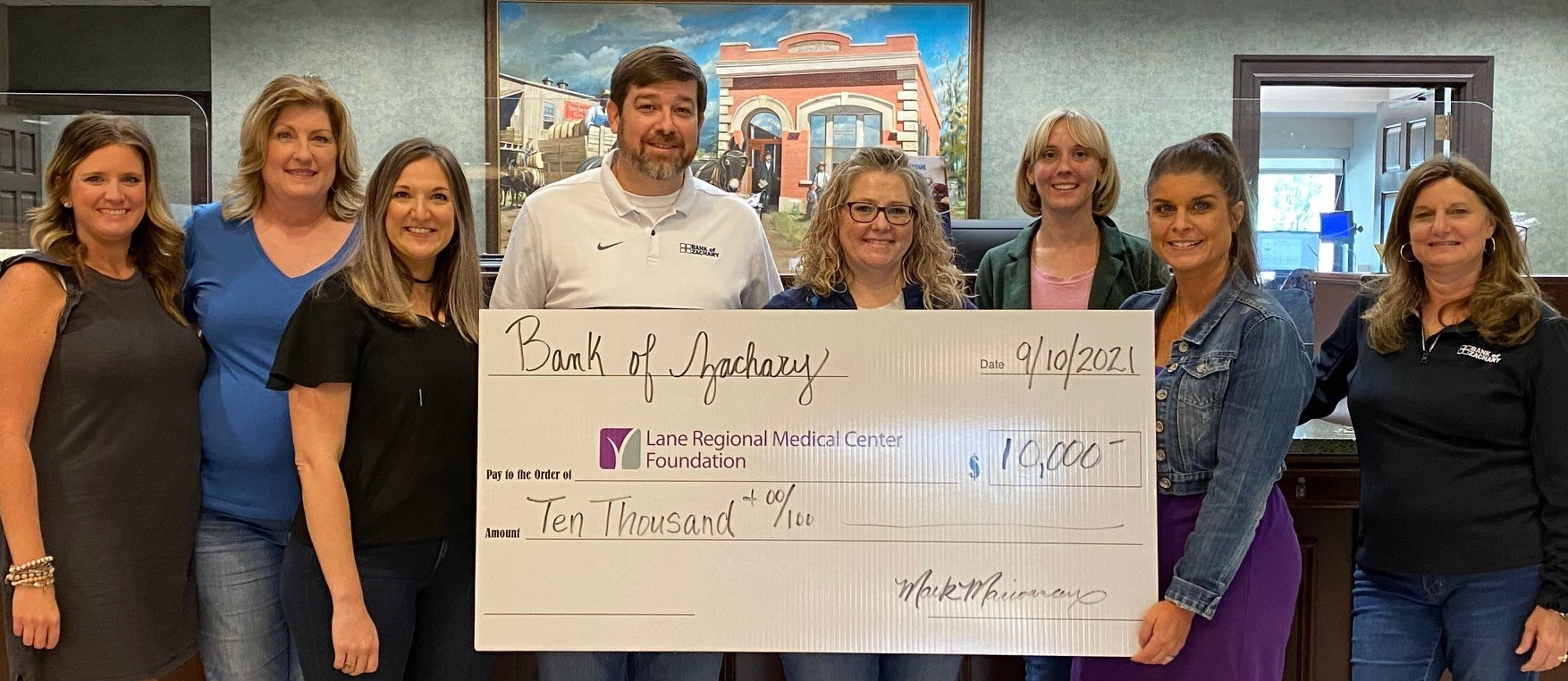 Bank of Zachary Gives to Local Hospital Heroes