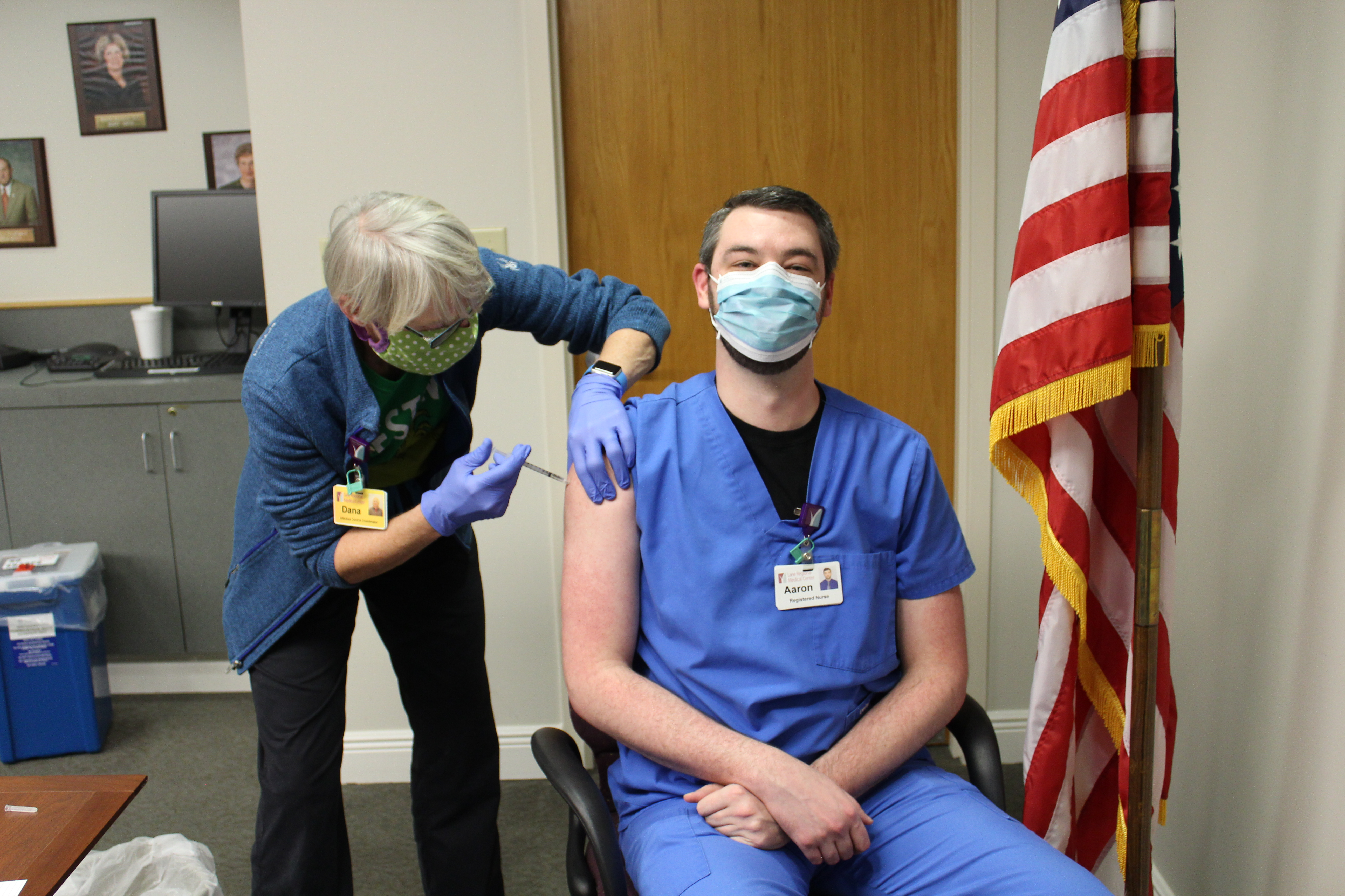 Lane Regional Medical Center Staff Members Begin Receiving COVID-19 Vaccine