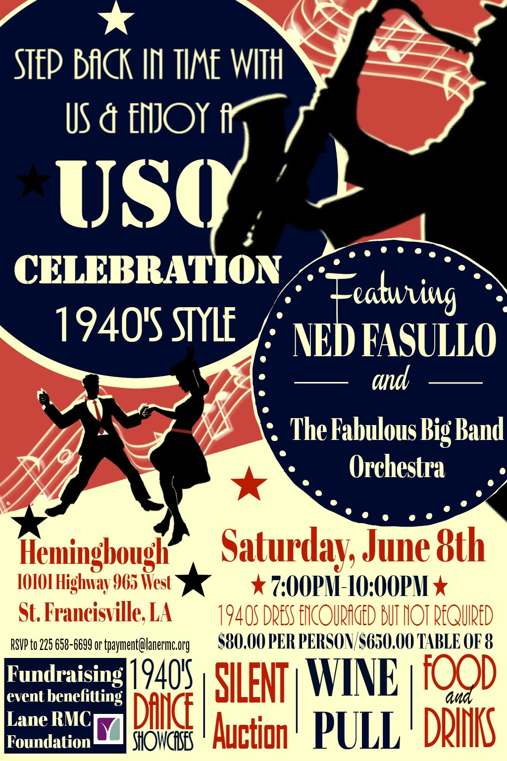 Lane Foundation to Host USO Celebration Fundraiser