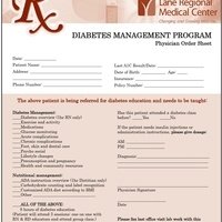 Diabetes Physician Referral Form