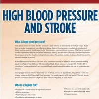 High Blood Pressure and Stroke Brochure