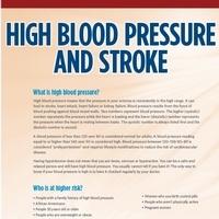 High Blood Pressure and Stroke Brochure