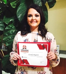 Lane's First Lifesaver Award Recipient