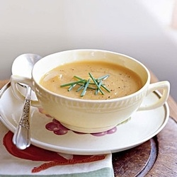 Roasted Butternut Squash and Shallot Soup