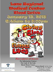 January Is National Blood Donor Month - Blood Drive at Lane Regional Medical Center