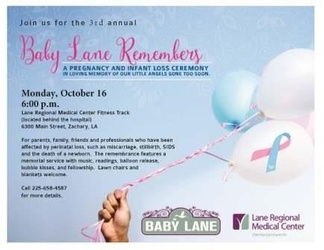 Lane Regional To Host Pregnancy & Infant Loss Ceremony