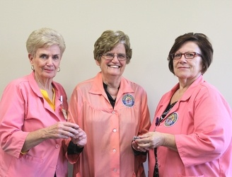 Pictured (ltor):  Gladys Sims, Juanita Massey, and Diane Rouchon.