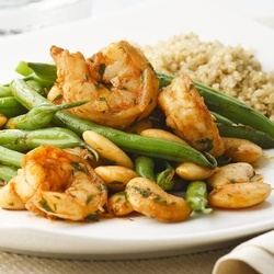 Paprika Shrimp & Green Bean Sauté