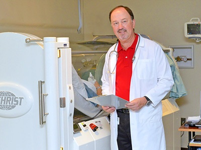 Dr. Trahan at Lane Regional Wound Care