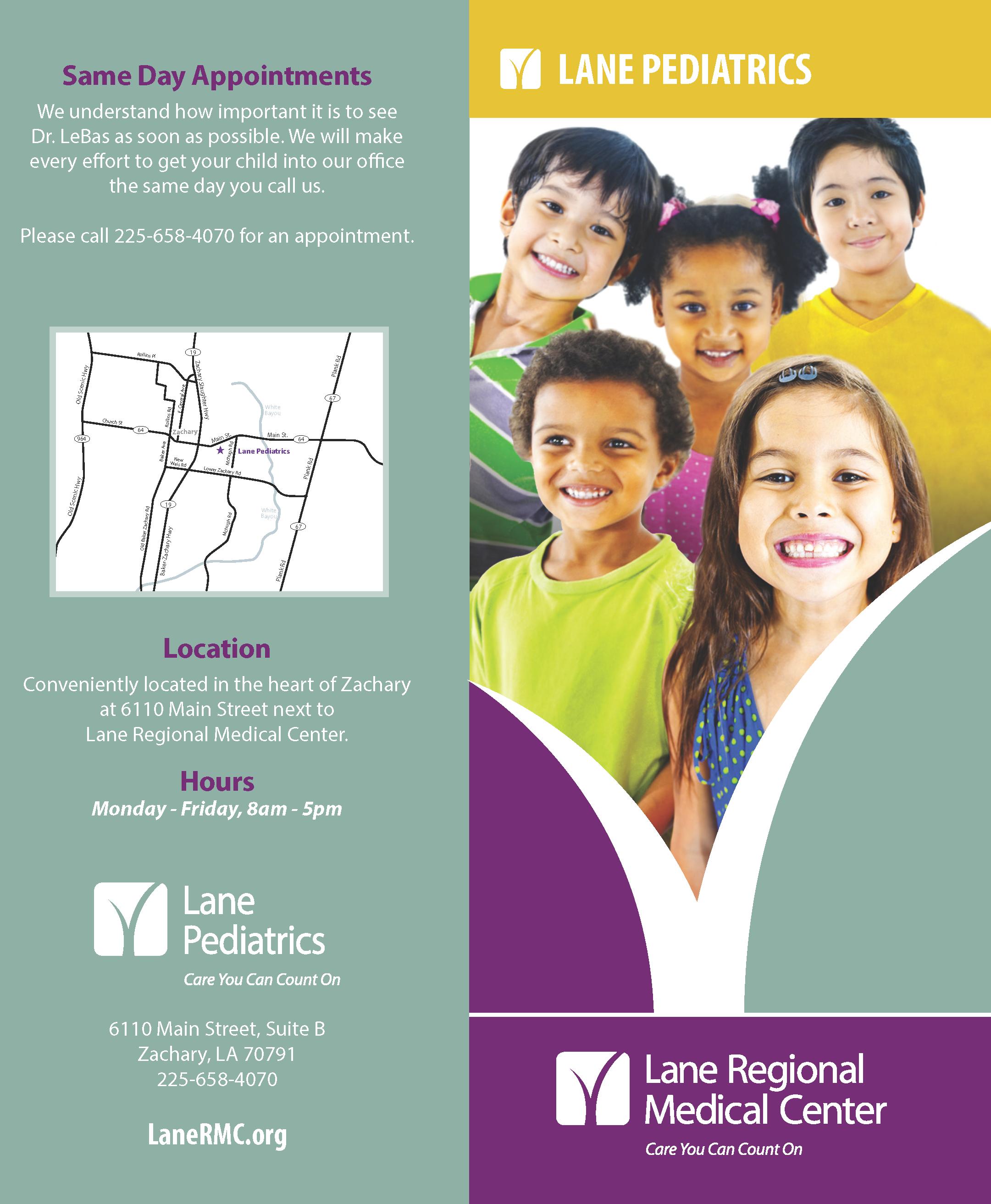 Lane Pediatrics Brochure