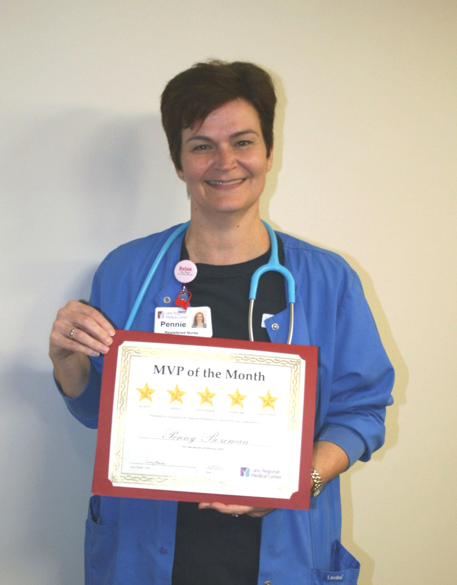 Pennie Bozeman, RN, Named February MVP