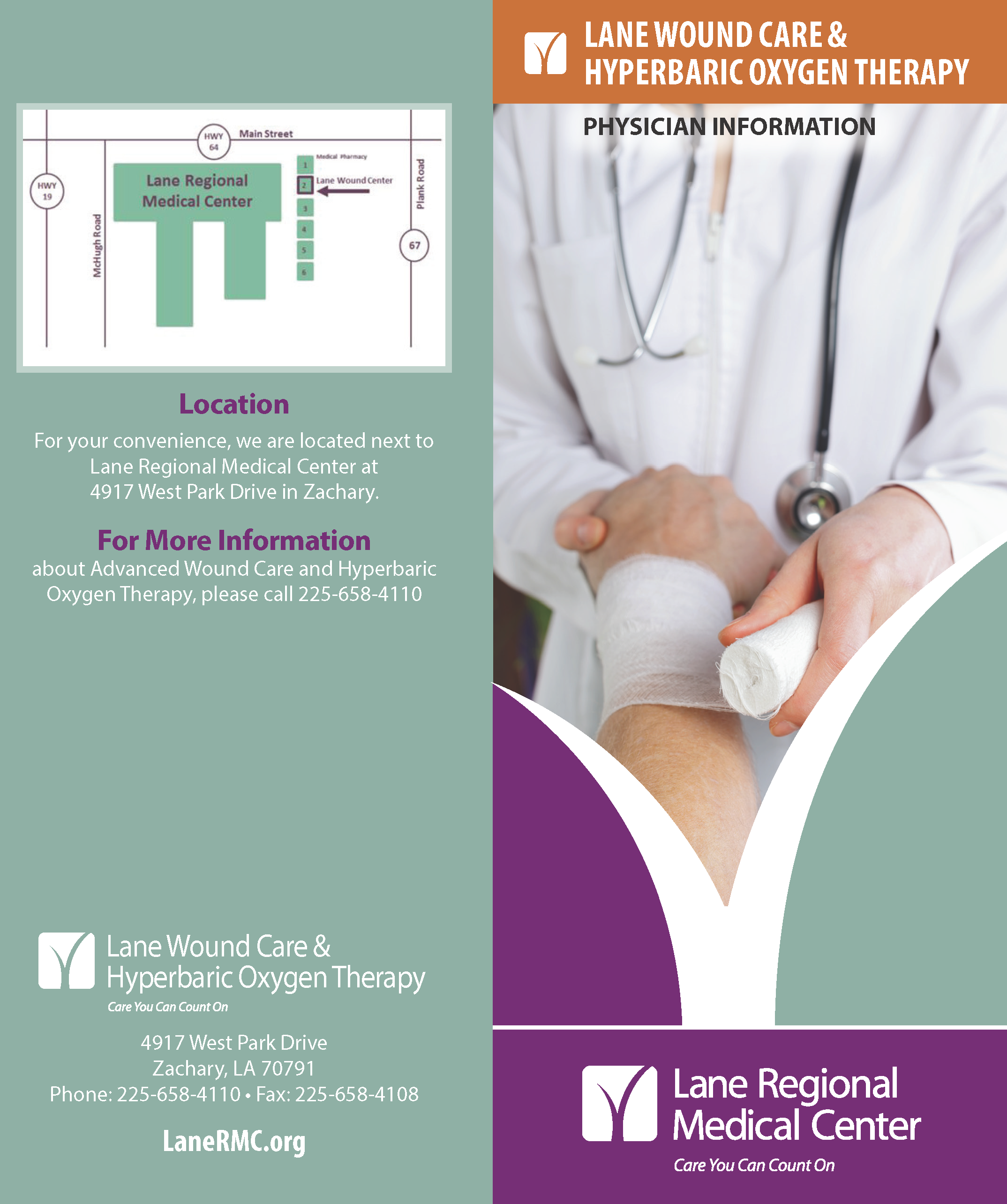 Wound Care and Hyperbaric Oxygen Therapy Physician Brochure