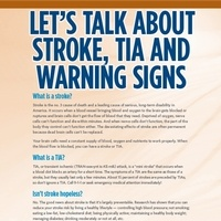 Let's Talk About Stroke, TIA and Warning Signs