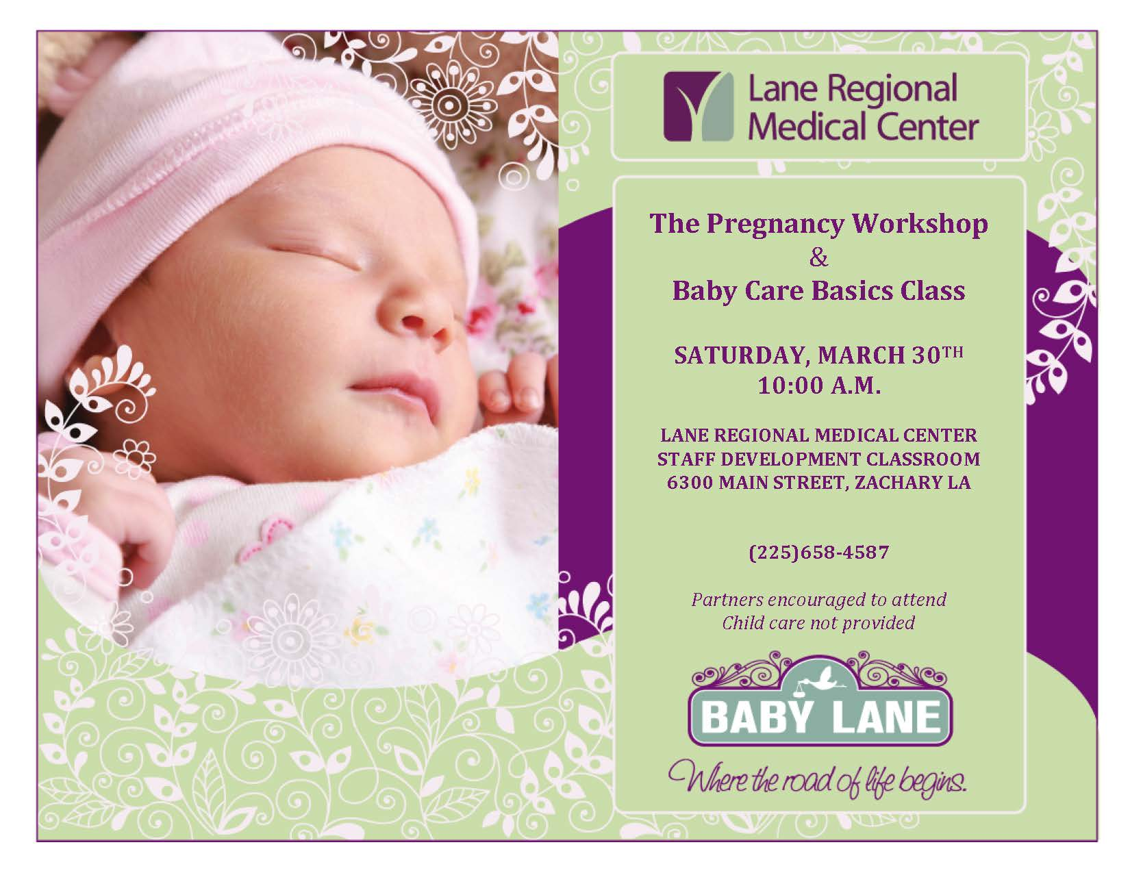 FREE Prenatal & Newborn Baby Care Class March 30th