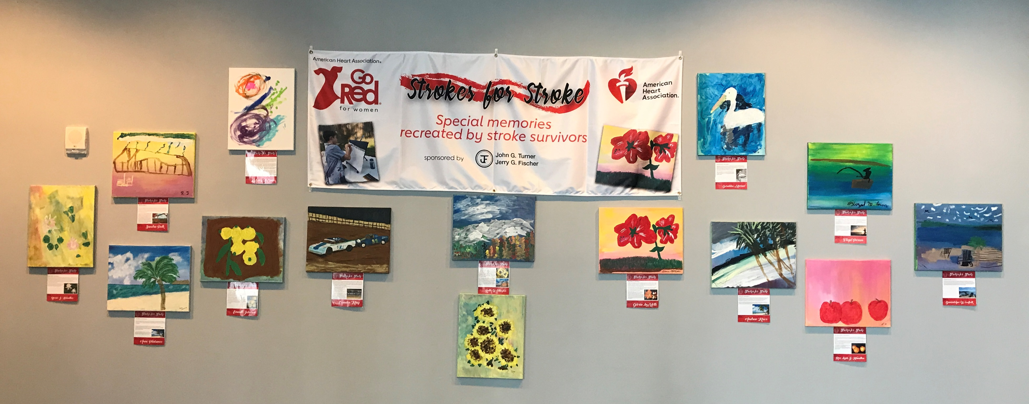 AHA's Strokes for Stroke Traveling Art Show at Lane