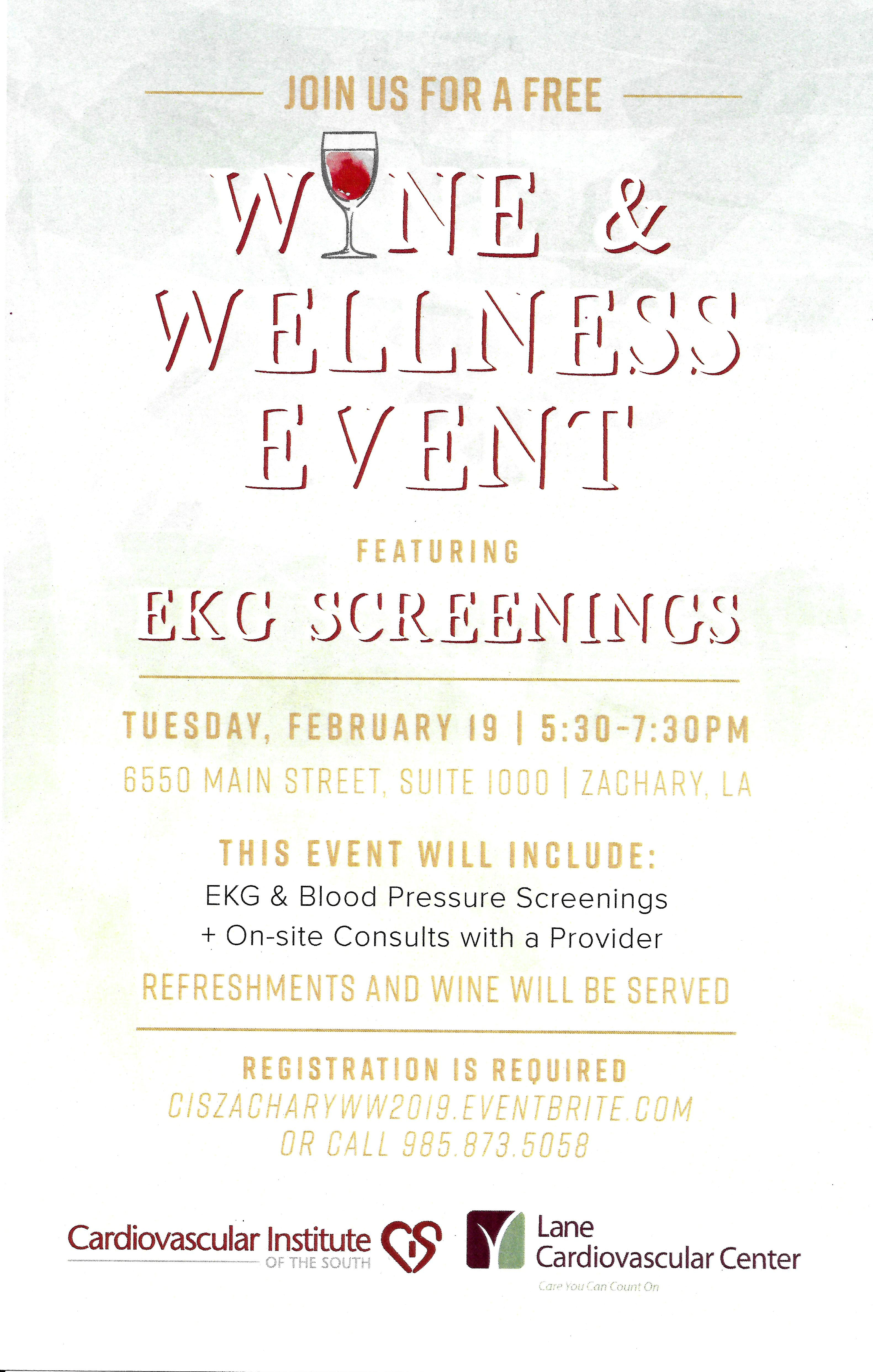 Free Wine & Wellness Event